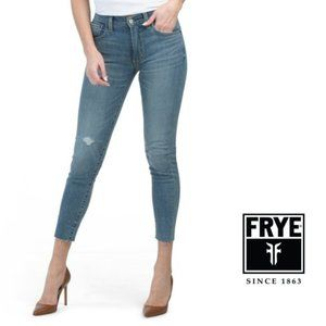 NWT FRYE Sienna Mid Rise Destructed Skinny Jeans